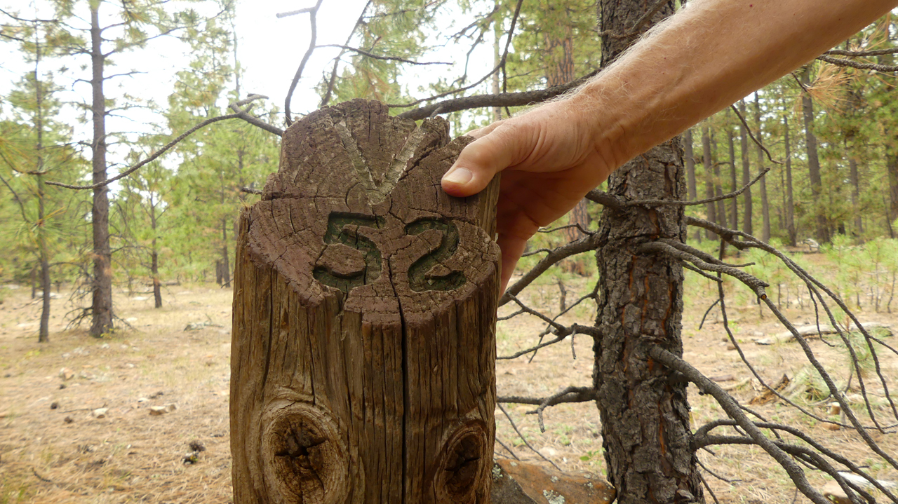 distance marker on the trail