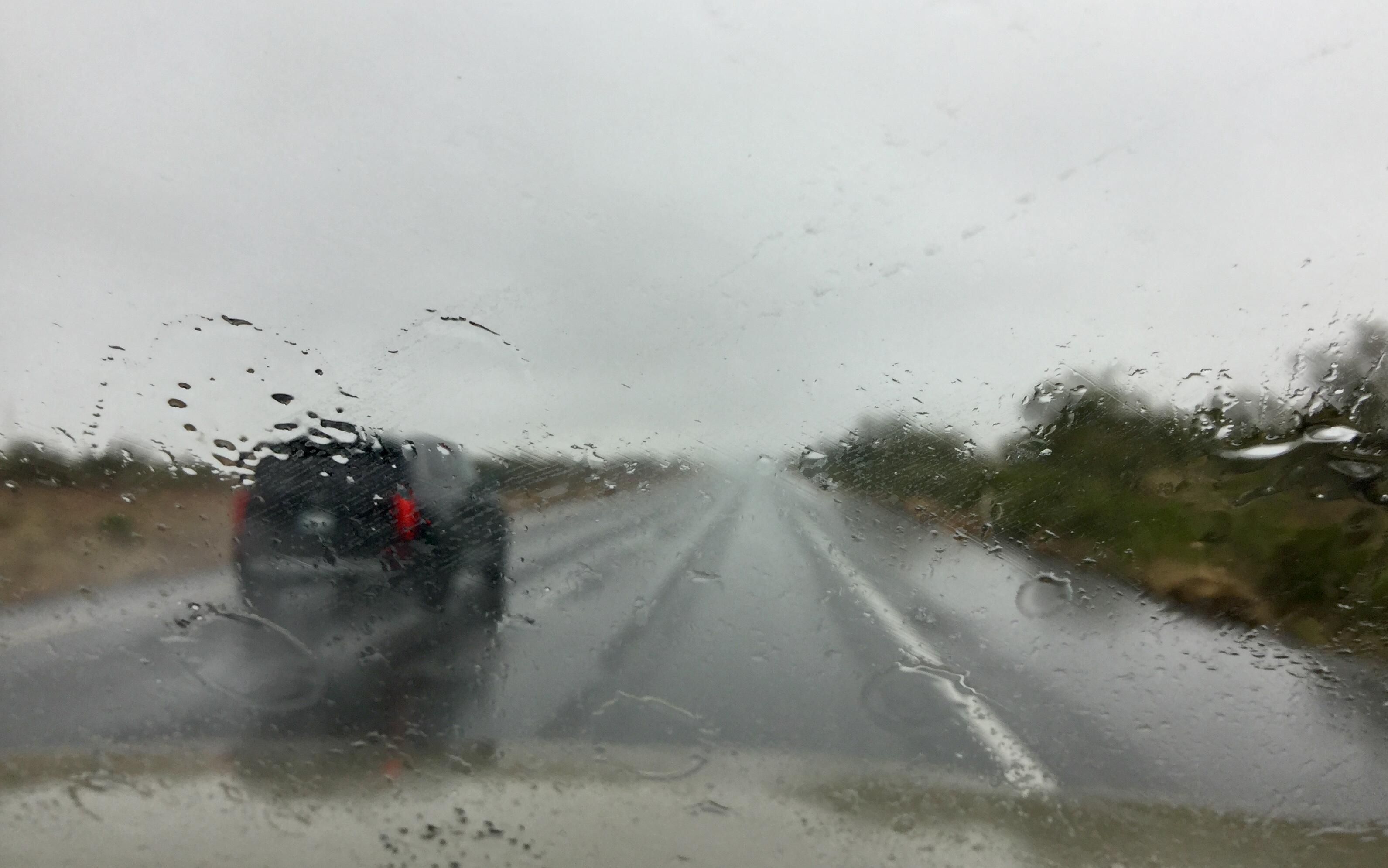 rainstorm on I-10