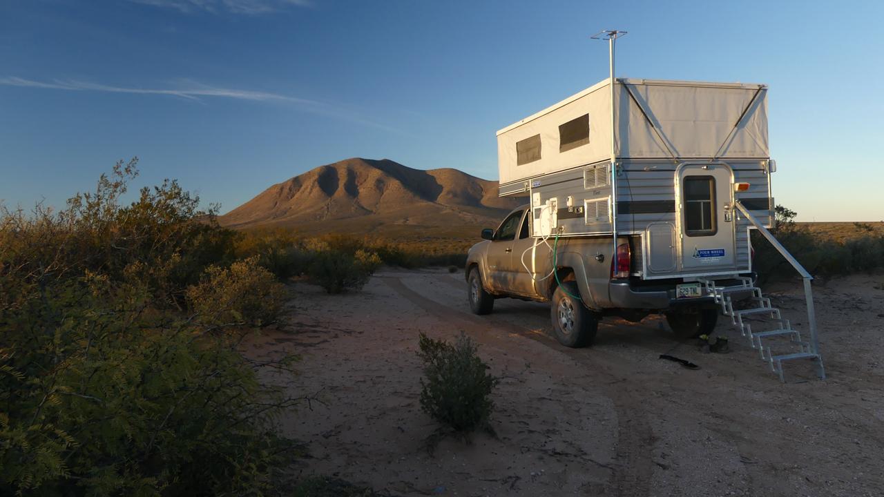 campsite in the West Potrillos