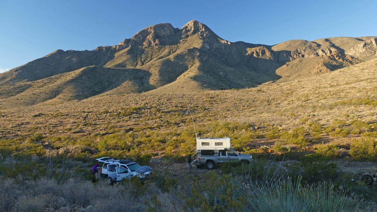 campsite near Victorio Canyon