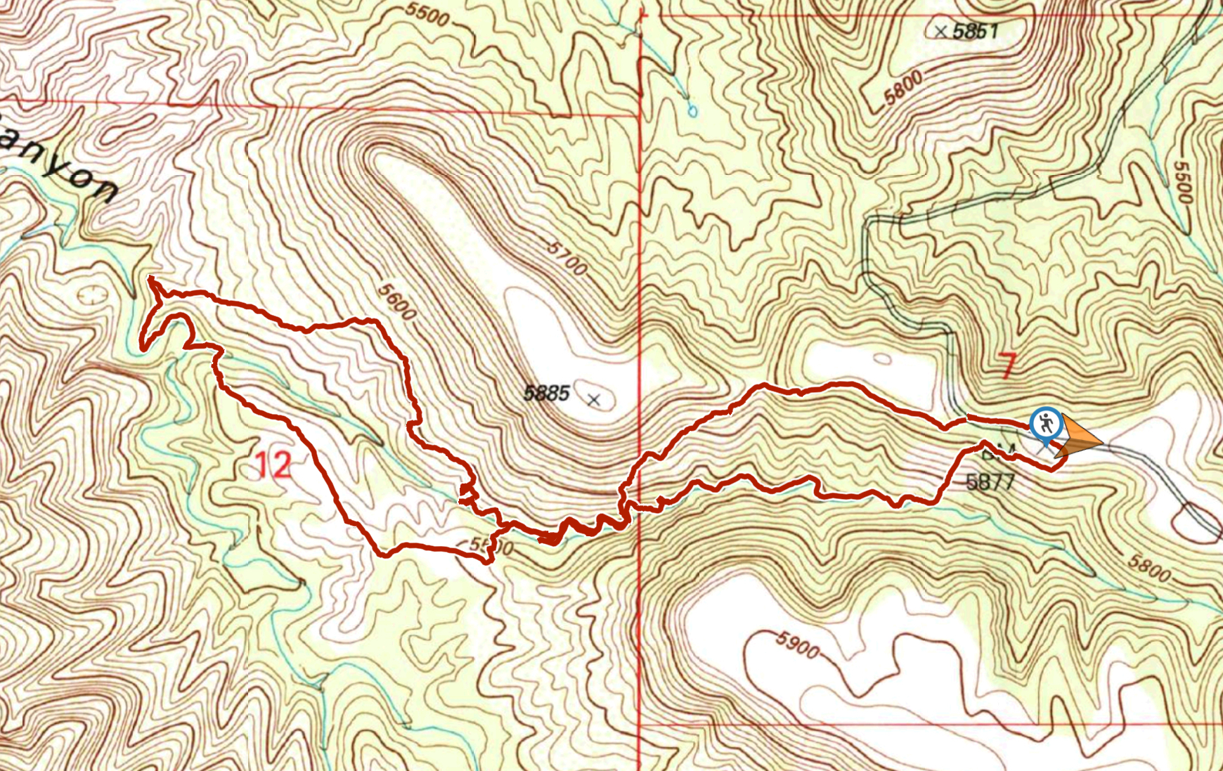 distant view of the pinos altos range