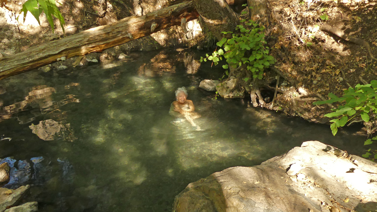 me in the warm pool
