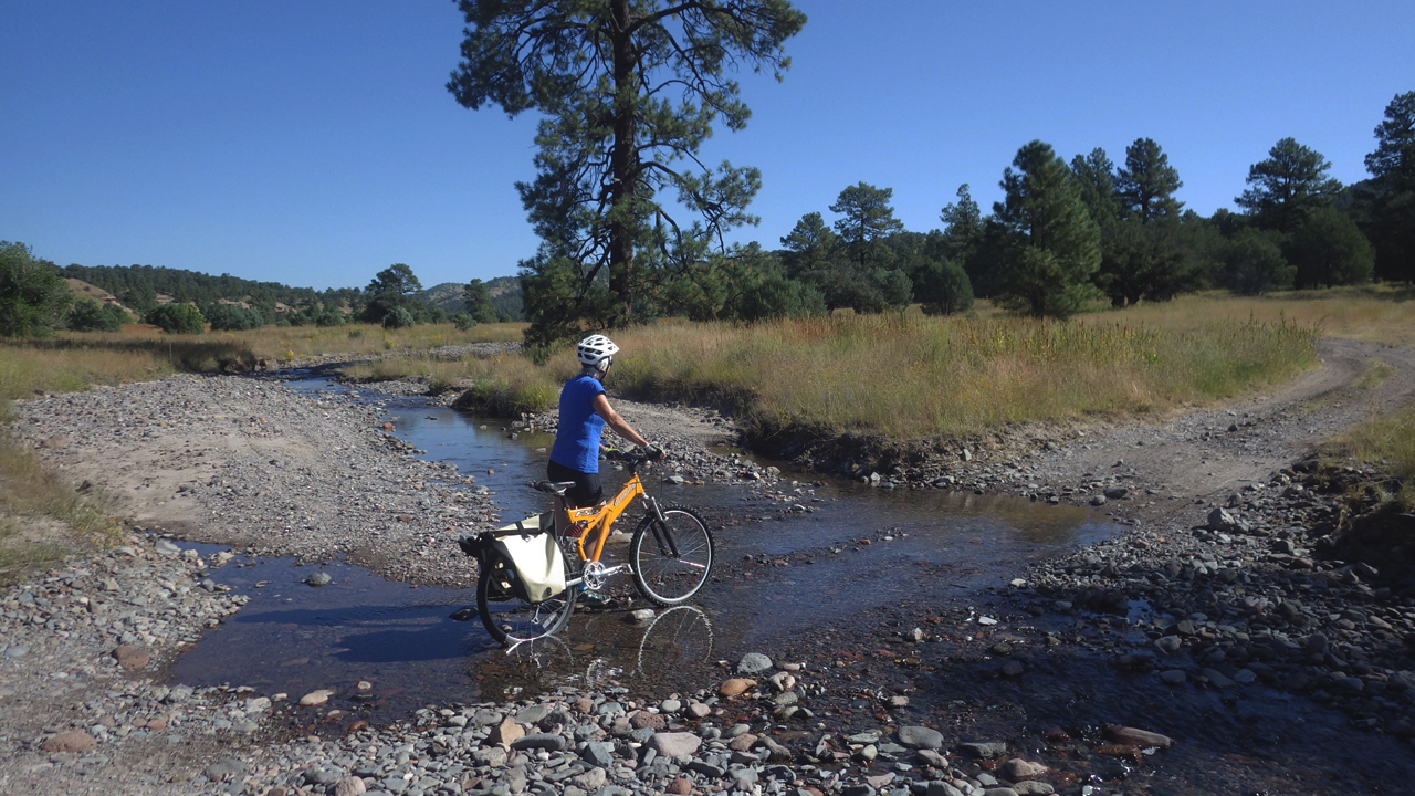 crossing the Mimbres by bike