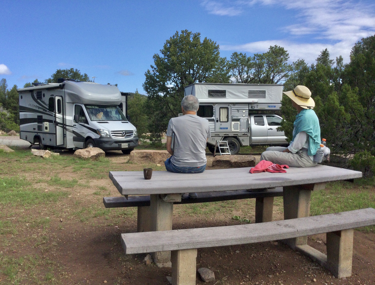 camping at Datil Well