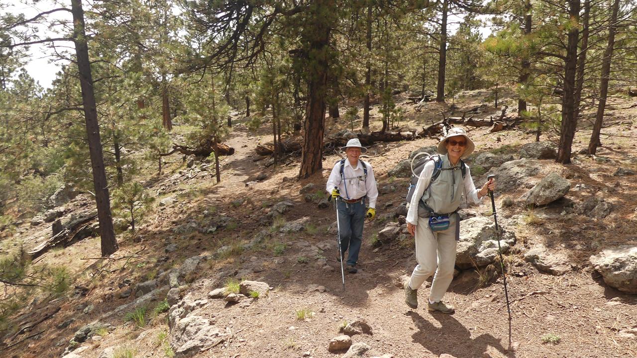 starting up Gooseberry Springs Trail