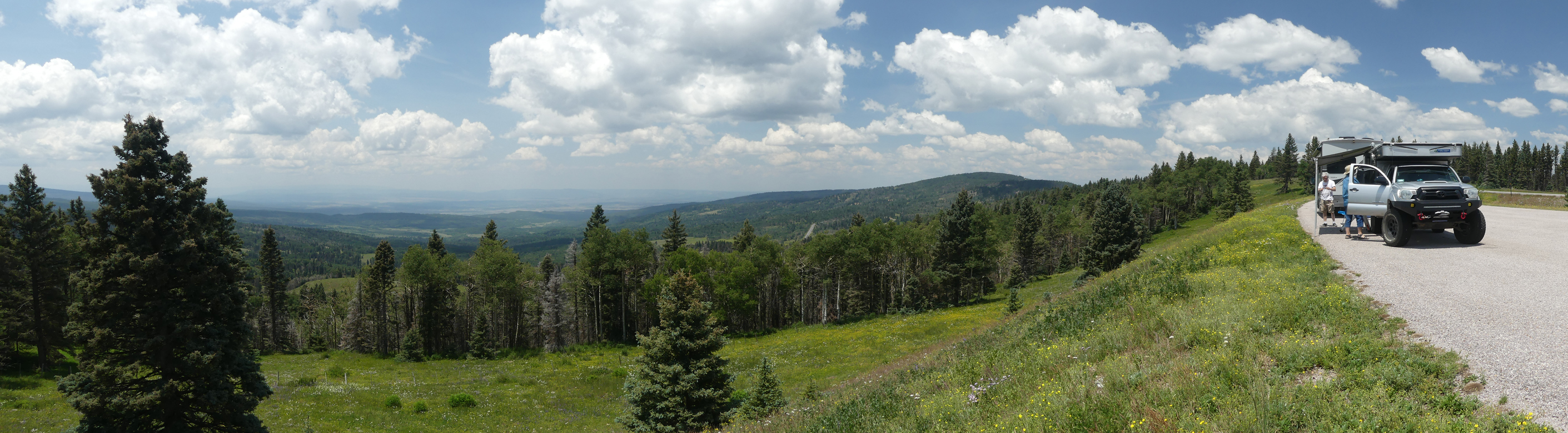 picnic at a scenic overlook