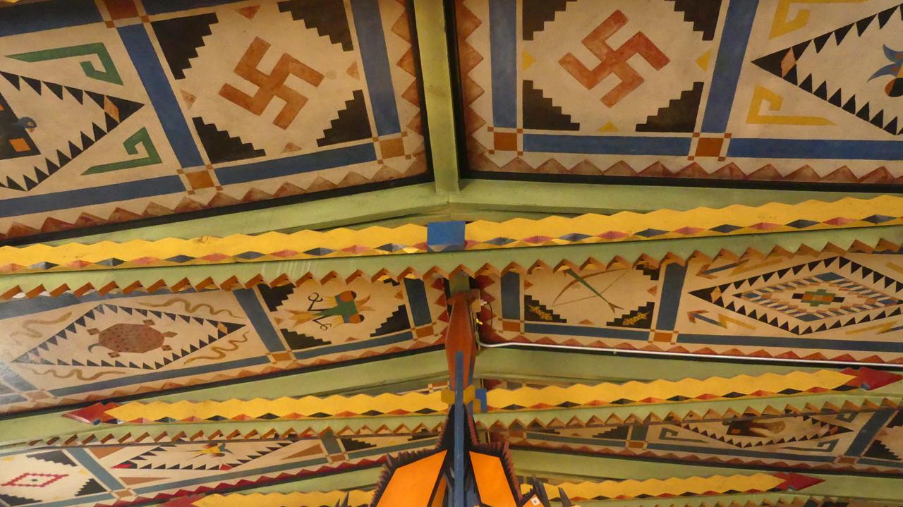 Shaffer Hotel ceiling