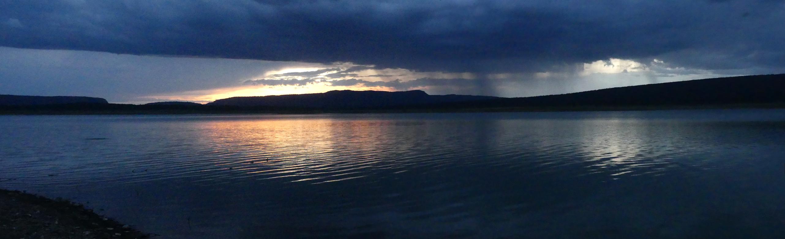 Heron Lake at sunset
