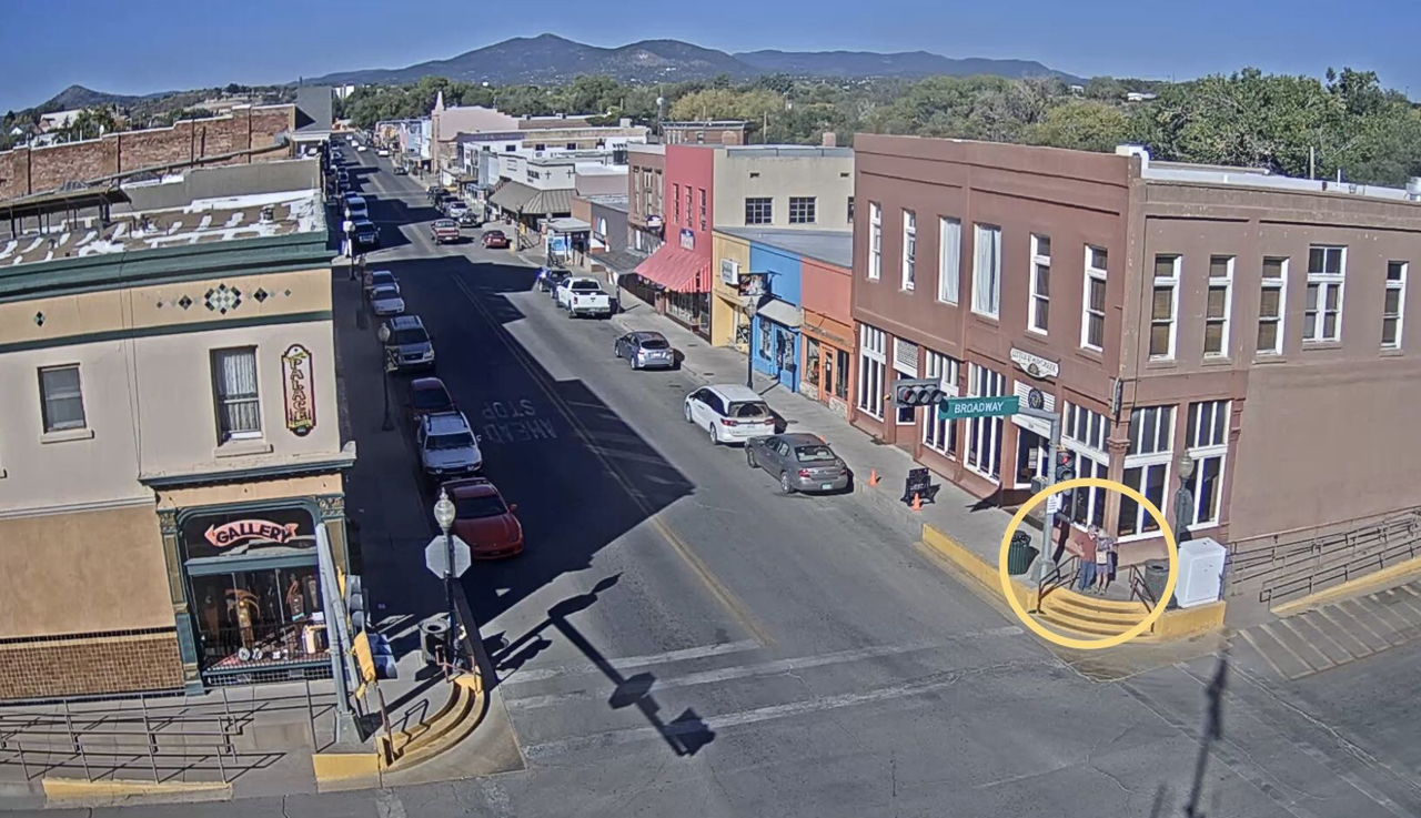 Self portrait on Silver City webcam