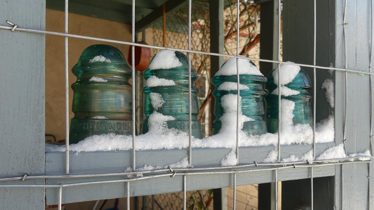 insulators in snow