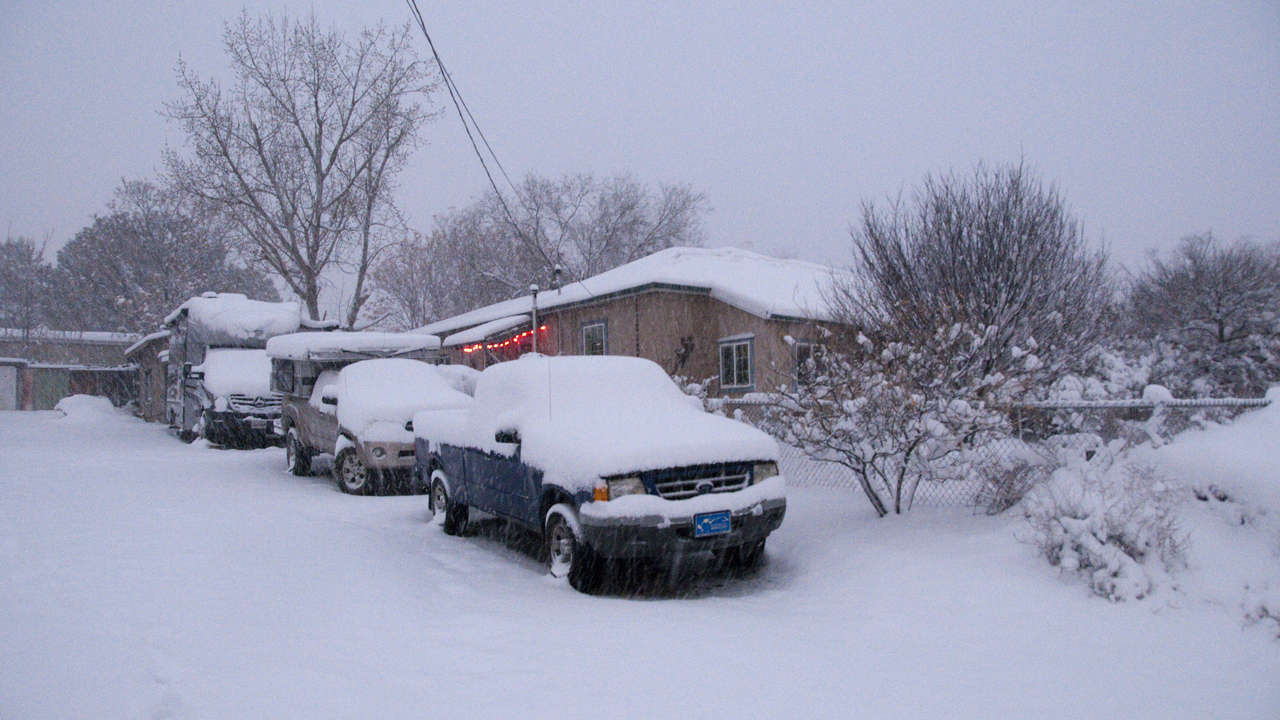 vehicles in the snow