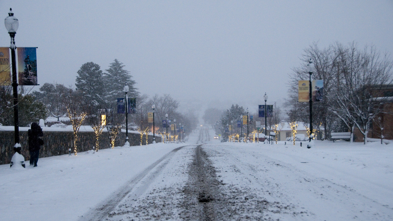 College Street in the snow