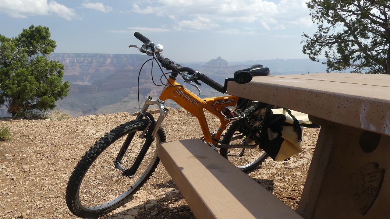 bike at Grand Canyon