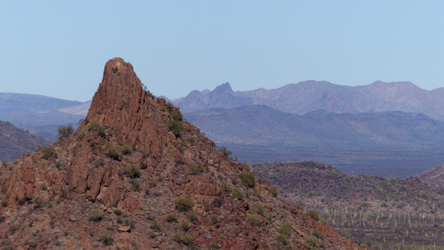Unnamed peak in Puerto Blanco Mountains