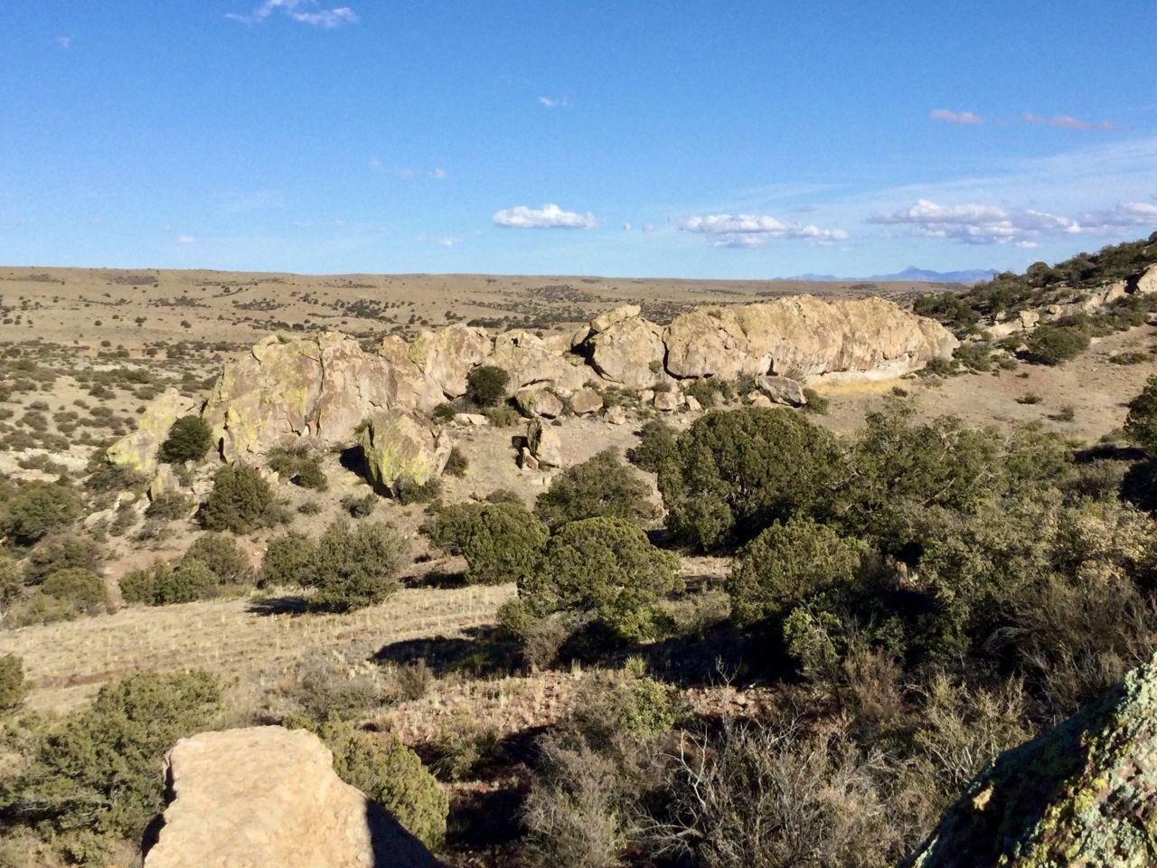 rocky ridge in distance